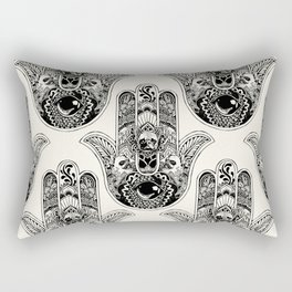Hamsa Hand French Bulldog Rectangular Pillow