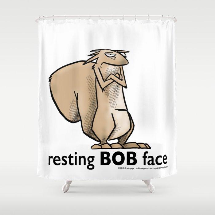 Resting Bob Face Shower Curtain
