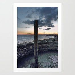 Seafront at Weston-super-Mare Art Print