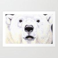 polar bear Art Prints featuring Polar Bear by StudioBlueRoom