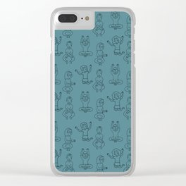 Dancing (green) Clear iPhone Case