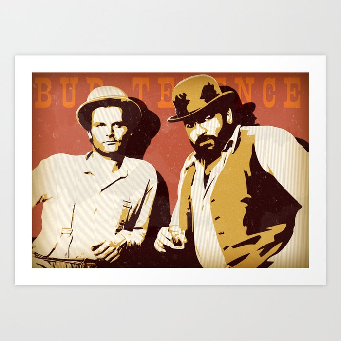 Bud Spencer E Terence Hill Art Print By Samuelealberti Society6