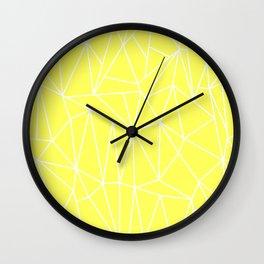 Geometric Cobweb (White & Light Yellow Pattern) Wall Clock