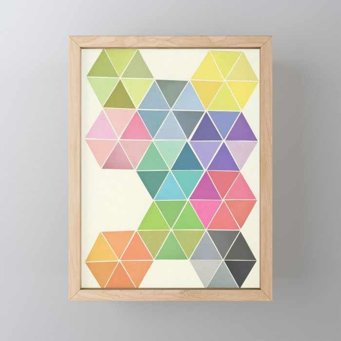 Fragmented Framed Mini Art Print
