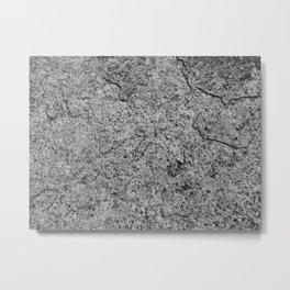 Cracking Gray Metal Print