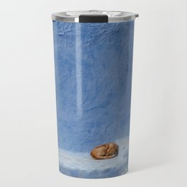 Chefchaouen dog Travel Mug