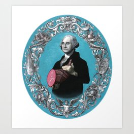 George Washington with Ham Art Print