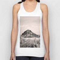 monkey island Tank Tops featuring Monkey Island, Southland, New Zealand by the penny drops