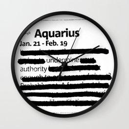Aquarius 1 Wall Clock