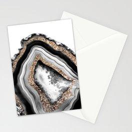 Agate Gold Glitter Glam #1 #gem #decor #art #society6 Stationery Cards