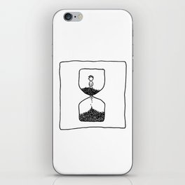 Time is what we want most, but what we use worst.  iPhone Skin