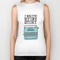 write Biker Tanks featuring I Write  by Kendra Amy Allen