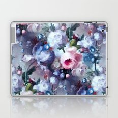 Blue and pink floral pattern Laptop & iPad Skin
