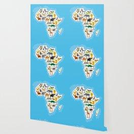 Animal Africa: parrot Hyena Rhinoceros Zebra Hippopotamus Crocodile Turtle Elephant Mamba snake Wallpaper