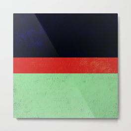 Navy, red and mint design Metal Print