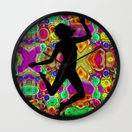 Music and Dance Is Life Motif Wall Clock