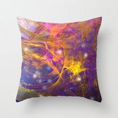 Deep space explosion Throw Pillow