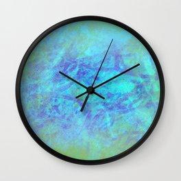 Microcosmos of Chaos (Blue Version) Wall Clock