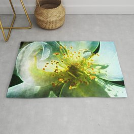 Yellow Rose Center with smokey overlay by CheyAnne Sexton Rug