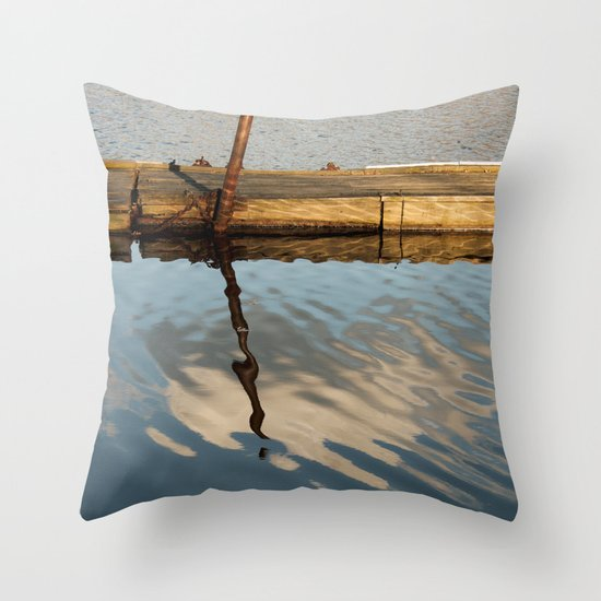 Two Waters and a Cloud Throw Pillow