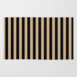 Tan Brown and Black Vertical Stripes Rug