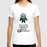 garrus T-shirts featuring Garrus: In the middle of some calibrations by Skart87