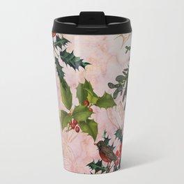 Holly and Mistletoe Travel Mug