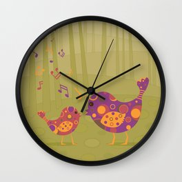 Bird Duet Wall Clock