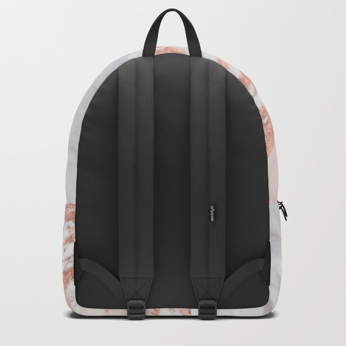 Mixed pinks rose gold marble Backpack