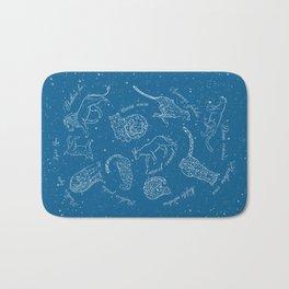 Big Cats Constellations (Light Blue Sky) Bath Mat