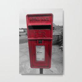 British Post Box Metal Print