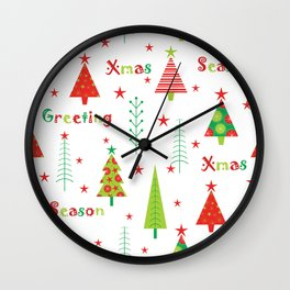 Xmas Season Wall Clock