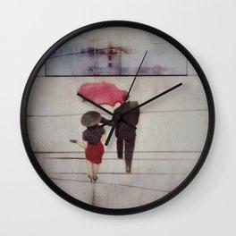 Walk In The Rain Wall Clock