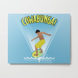 Cowabunga Flow-boarding Pop Art Metal Print