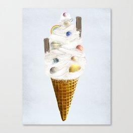 galaxy cone Canvas Print