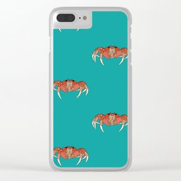 Cool looking Mr Crab Clear iPhone Case