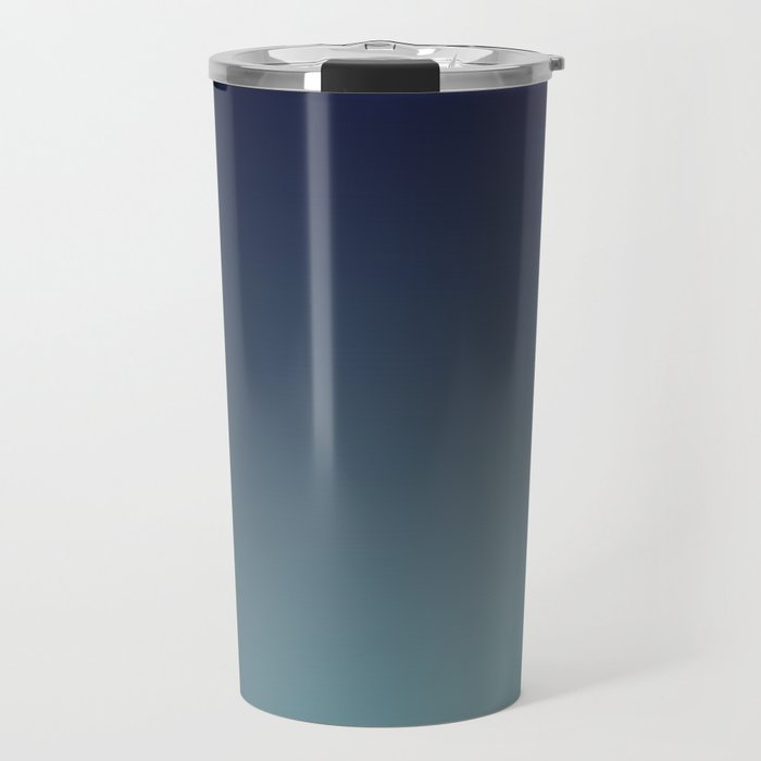 NIGHT SWIM - Minimal Plain Soft Mood Color Blend Prints Travel Mug