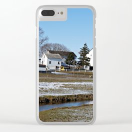 Lancaster Farm Houses and Silo Clear iPhone Case