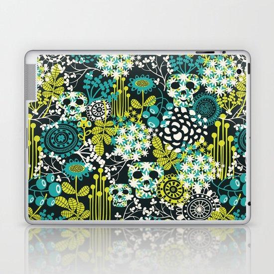 Flowers on the head. Laptop & iPad Skin