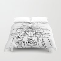 madonna Duvet Covers featuring Madonna Of Hollywood by I/S/P