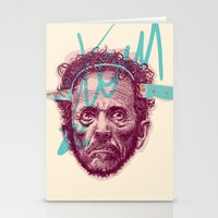 tom selleck Stationery Cards featuring Tom Zé by Arthur d'Araujo