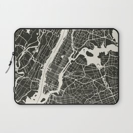 New York City Map_BLACK Laptop Sleeve