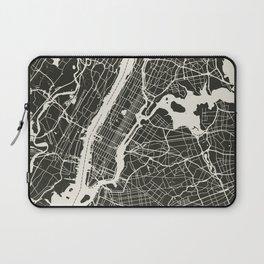 New York City Map_BLACK Laptop Sleeve
