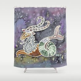 Zodiac Collection: Capricorn Shower Curtain