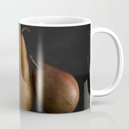 Still LIfe of Fresh Pears on a Dark Surface Coffee Mug