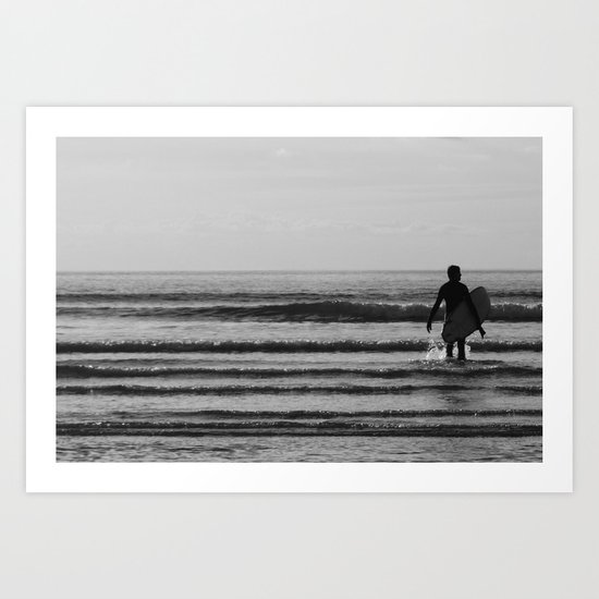 waiting for that one wave Art Print