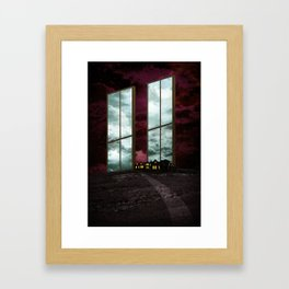 Two Windows. Framed Art Print