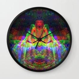 Lady of Shallot Glitch Wall Clock