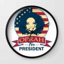 Oprah For President Wall Clock