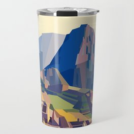Geometric Machu Picchu, Peru Travel Mug